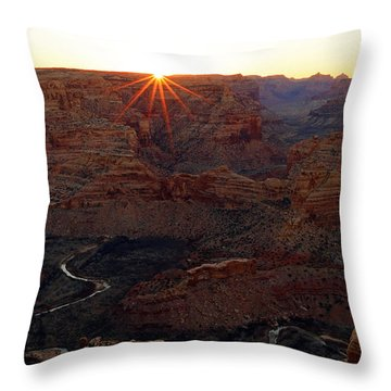 Sunrise At The Wedge Throw Pillow by Johnny Adolphson