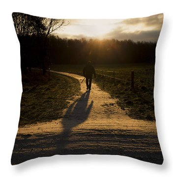 Sunrise Atmosphere Throw Pillow by Mike Santis
