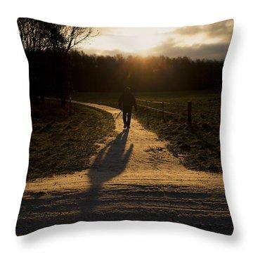 Sunrise Atmosphere Throw Pillow
