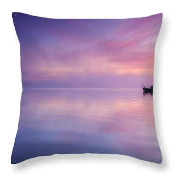 Sunrise Bay Throw Pillow by Darren  White