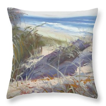 Sunrise Beach Dunes Sunshine Coast Qld Australia Throw Pillow