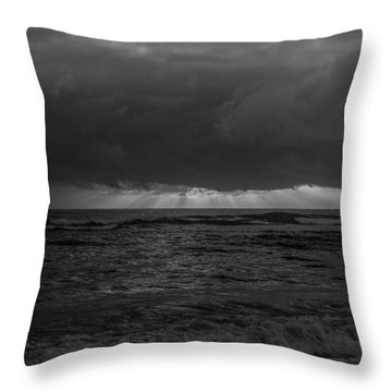 Sunrise Black And White Throw Pillow