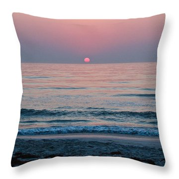 Sunrise Blush Throw Pillow by Julie Andel
