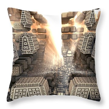 Sunrise City Throw Pillow by Kevin Trow