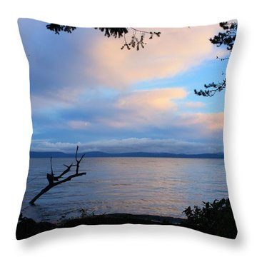 Sunrise Clouds Throw Pillow by Gerry Bates