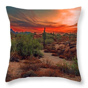 Sunrise Cocktail Throw Pillow