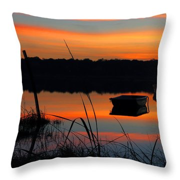 Sunrise Cove  Throw Pillow by Dianne Cowen