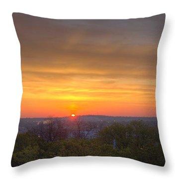 Sunrise Throw Pillow by Daniel Sheldon