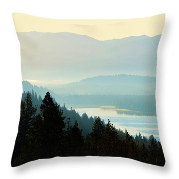 Sunrise Donner Lake California Throw Pillow