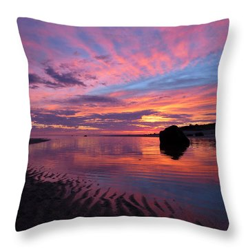 Sunrise Drama Throw Pillow by Dianne Cowen
