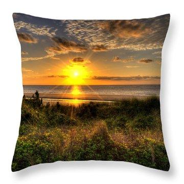 Sunrise Dune Throw Pillow by Greg and Chrystal Mimbs