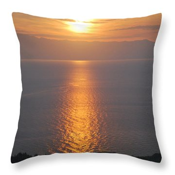 Sunrise Erikousa 1 Throw Pillow by George Katechis