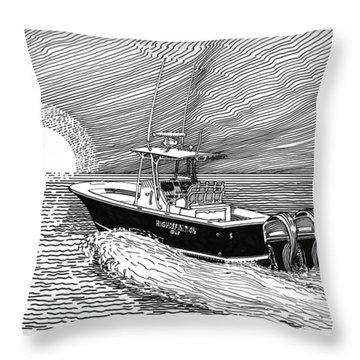 Sunrise Fishing Throw Pillow by Jack Pumphrey