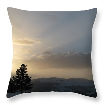 Sunrise From Blacktail Plateau 05 Throw Pillow