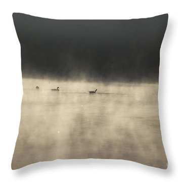 Sunrise Geese Throw Pillow