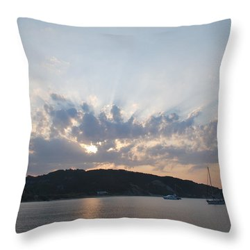 Throw Pillow featuring the photograph Sunrise by George Katechis