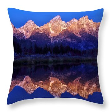 Throw Pillow featuring the photograph Sunrise Glow by Benjamin Yeager