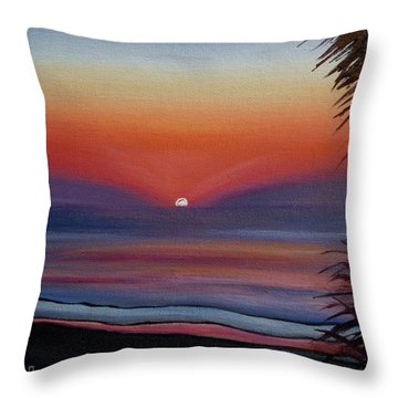 Throw Pillow featuring the painting Sunrise Glow by Donna Tuten