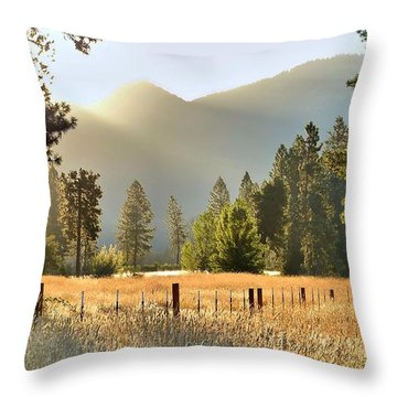 Sunrise Gold Throw Pillow