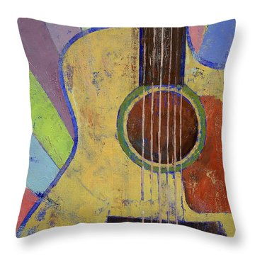 Sunrise Guitar Throw Pillow by Michael Creese