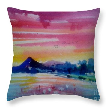 sunrise I Throw Pillow