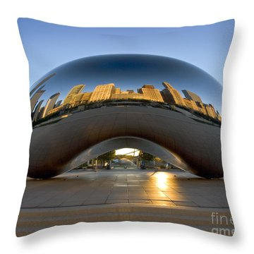 Sunrise In Cloudgate Throw Pillow