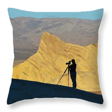 Throw Pillow featuring the photograph The Photographer's Art by Dana Sohr