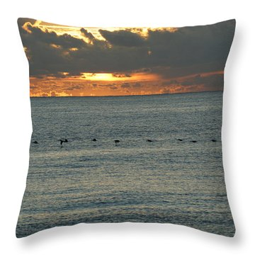 Throw Pillow featuring the photograph Sunrise In Florida Riviera by Rafael Salazar