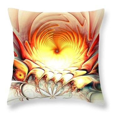 Throw Pillow featuring the digital art Sunrise In Neverland by Anastasiya Malakhova