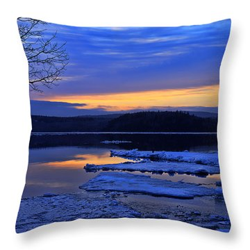 Sunrise In New Brunswick Throw Pillow by Ken Morris