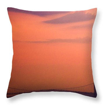 Sunrise In New York Throw Pillow by Sara Frank