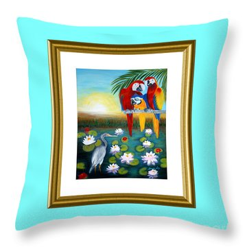 Sunrise In Paradise. Inspiration Collection Throw Pillow