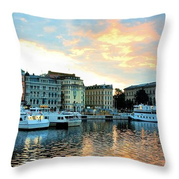 Sunrise In Stockholm Throw Pillow