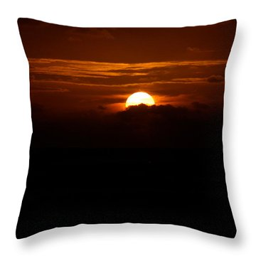 Sunrise In The Clouds Throw Pillow