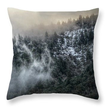 Throw Pillow featuring the photograph Sunrise In The Clouds by Melanie Lankford Photography