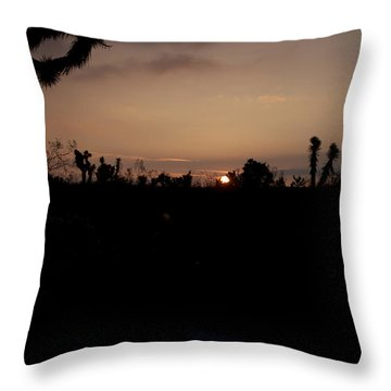 Throw Pillow featuring the photograph Sunrise In The Desert by Ivete Basso Photography