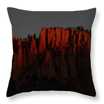 Sunrise In The Desert Throw Pillow