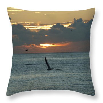 Throw Pillow featuring the photograph Sunrise In The Florida Riviera by Rafael Salazar