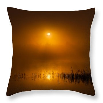 Sunrise In The Fog Throw Pillow