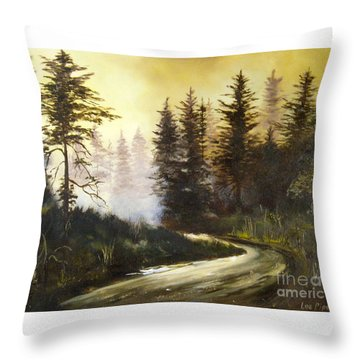 Sunrise In The Forest Throw Pillow