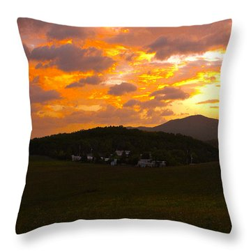 Sunrise In The Smokies Throw Pillow