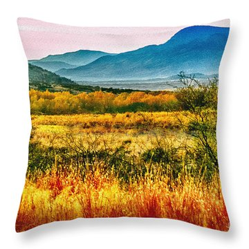 Sunrise In Verde Valley Arizona Throw Pillow by Bob and Nadine Johnston