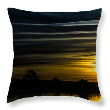 Throw Pillow featuring the photograph Sunrise In Virginia by Angela DeFrias