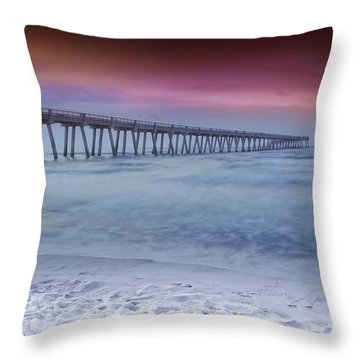 Throw Pillow featuring the photograph Sunrise In Winter by Renee Hardison