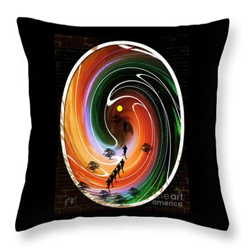 Sunrise Joggers  Throw Pillow