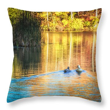 Sunrise Lake Rendezvous Throw Pillow