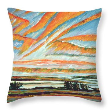 Sunrise Les Eboulements Quebec Throw Pillow by Patricia Eyre
