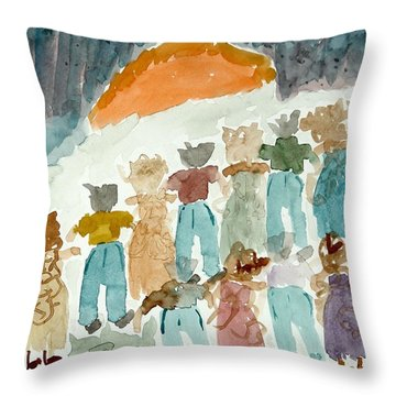 Sunrise Throw Pillow by Lesley Fletcher