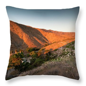 Sunrise Lights The Valley Of The Old Throw Pillow