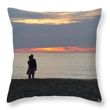Throw Pillow featuring the photograph Sunrise Love by Robert Banach